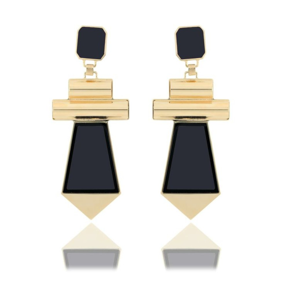 "Égotique Couture Jewelry - ""Frangia"" Earrings"