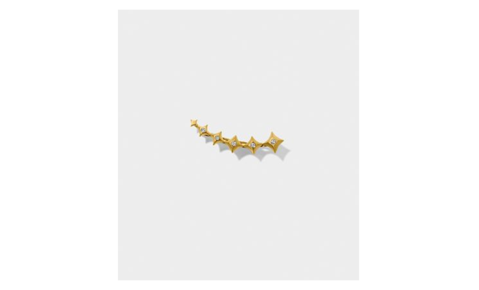 Line&Jo - MISS ETOILE TWO GOLD AND DIMOND EARRING