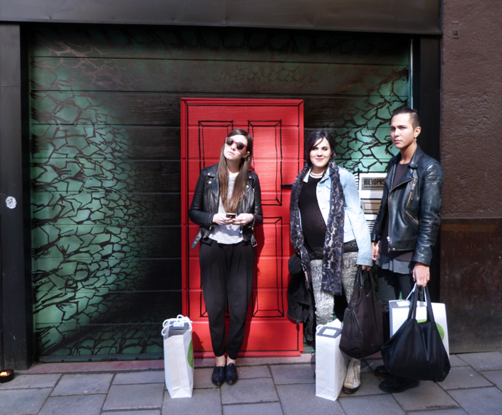 Homies looking fierce outside Ibeyo Studio