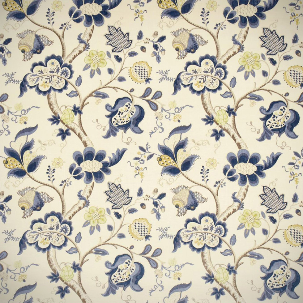 Wallpaper Roslyn Indigo from Sanderson